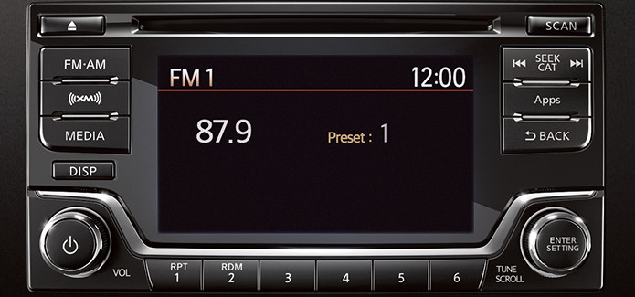 Frontier® Desert Runner® V6 Crew Cab AM/FM/CD audio system with six ...